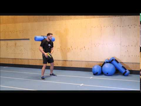 Medicine Ball Side Wall Throws Static with Hydrovest®