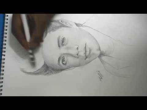 Muneer Albusaidi Speed Art | Drawing a guy with pencil