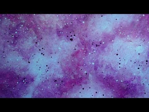 Acrylic Painting Background Blending Purple and Light Blue Acrylic Paint