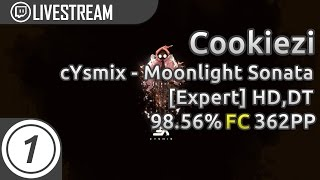 Cookiezi | cYsmix - Moonlight Sonata [Expert] +HD,DT | 98.56% 362pp #1