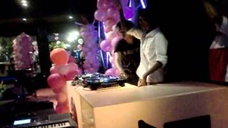 DJ Lingga and DJ Ihyak Perform on Anang Hi5 Lounge and Terrace (Sweet 17th Salsa Bella))