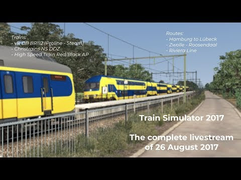 Train Simulator 2017  Complete Livestream of 26 August 2017