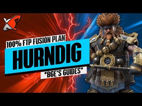 HURNDIG 100% FTP FUSION PLAN... Let's Go !! | BGE's Guides | RAID: Shadow Legends
