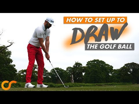 HOW TO SET UP TO DRAW THE GOLF BALL