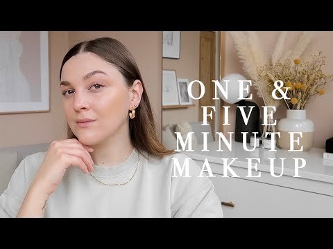 1 & 5 MINUTE EVERYDAY MAKEUP LOOKS | I Covet Thee