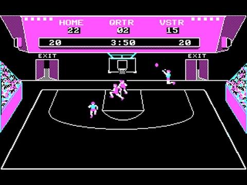 GBA Championship Basketball: Two-on-Two (Gamestar) (MS-DOS) [1986]