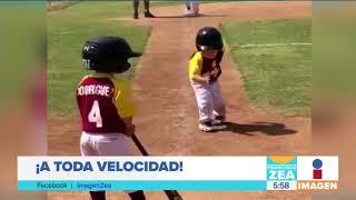Niño corre en cámara lenta hacia la base | Noticias con Francisco Zea