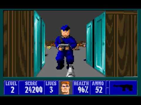 Wolfenstein 3D (Episode 1: Escape from Wolfenstein) (id Software) (MS-DOS) [1992]