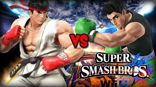 Ryu VS Little Mac [Super Smash Bros. Wii U]