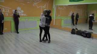 Kizomba Class 06.04.15 at Brazuka Dance School - Aladje Sheva, Laura
