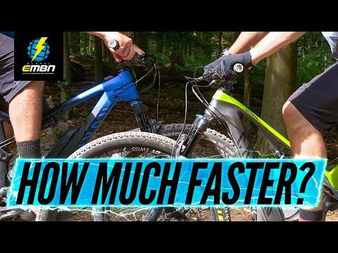 How Much Faster Is An E-MTB? | E-Bike Vs Mountain Bike