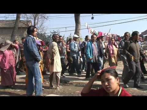 Boeddhistische crematie in Kathmandu