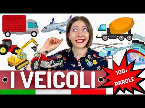 Vocabolario dei MEZZI di TRASPORTO e VEICOLI in italiano (+100 parole): Lezione di lessico avanzato