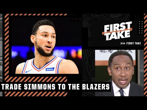 Stephen A.: The 76ers should trade Ben Simmons to the Trail Blazers | First Take