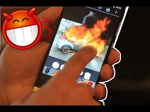 مقلب اشعل النار بسيارة صديقك | تحكم بحاسوبه | تطبيقات الاندرويد