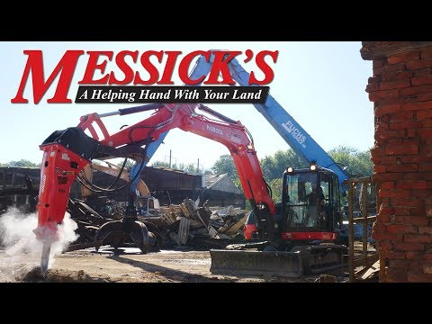 Kubota KX080-4: Demolition With Allied 999 Hydraulic Breaker Picture