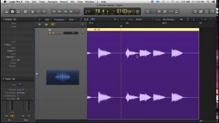 How To Do a Turntable Start or Stop effect (speed up/slow down) in Logic Pro X
