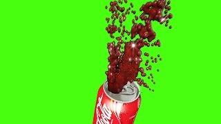 Green Screen Splash Coke Water Spray Hydrant - Footage PixelBoom