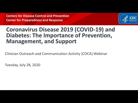 COVID-19 and Diabetes: The Importance of Prevention, Management and Support
