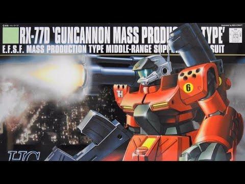 Bandai Gunpla HGUC 1/144 Guncannon Mass Production Type Review