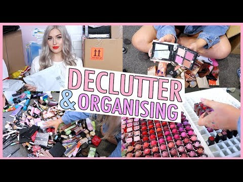PUT AWAY MAKEUP WITH ME! ?? Decluttering My New Makeup ?