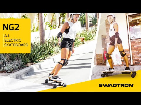 LOOK MA, NO HANDS! feat. SWAGTRON Swagskate Electric A.I. Longboard