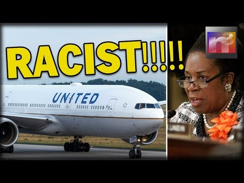 Sheila Jackson Lee Accuses United Airlines Passenger of RACISM, but there's just one problem