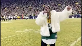Lil Wayne Performs National Anthem At Green Bay Packers Playoff Game