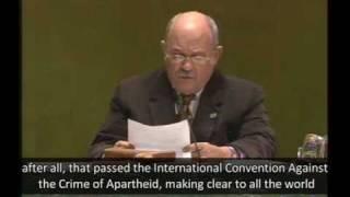 """Apartheid Israel"" Accusations by GA President"