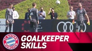 Goalkeeper Keepy Uppies feat. Neuer and Co. | FC Bayern Doha 2017