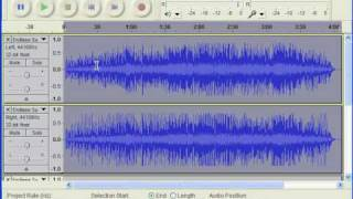 Converting audio to mid/side stereo with Audacity