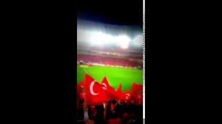 Türkiye-İsveç maçında mehter marşı çalındı