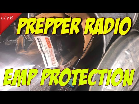 K6UDA Live: Testing faraday cages for EMP protection