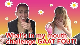 What's in my mouth challenge GAAT FOUT | Het is Lente!