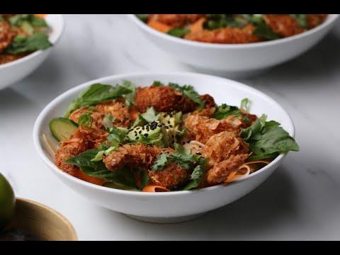 Crunchy Coconut Shrimp Rice Noodle Bowl ?Tasty