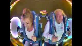 Lady craps her pants on slingshot ride!