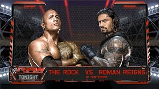 The Rock vs Roman Reigns - Falls Count Anywhere Match width=