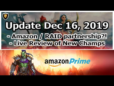 RAID Shadow Legends | Update Dec 16, 2019 | Amazon Prime + Ultimate Galek?!