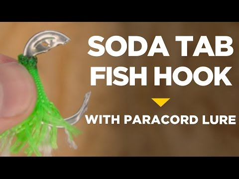 Soda Tab Fish Hook With Paracord Lure