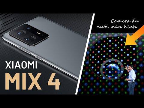 Xiaomi Mix 4 ra mắt camera ẩn dưới màn hình, Snap 888+ đầu tiên, từ 17,7 triệu