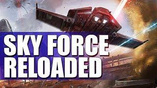 SKY FORCE reloaded прохождение 1 уровня