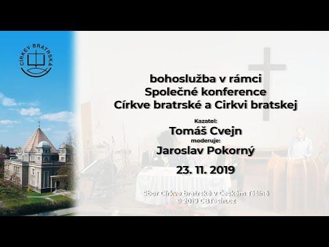 Bohoslužba v rámci Společné konference  Církve bratrské a Cirkvi bratskej