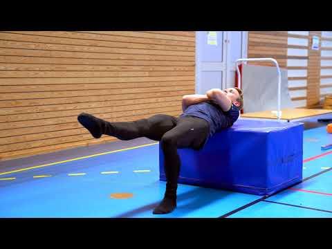 Gymnastiskt Basträningsprogram 14 Bäckenlyft