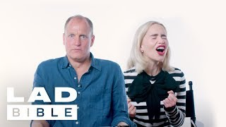Solo: A Star Wars Story's Emilia Clarke And Woody Harrelson Talk World Cup & Game of Thrones