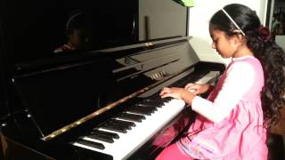 8 year old playing peaceful and relaxing music