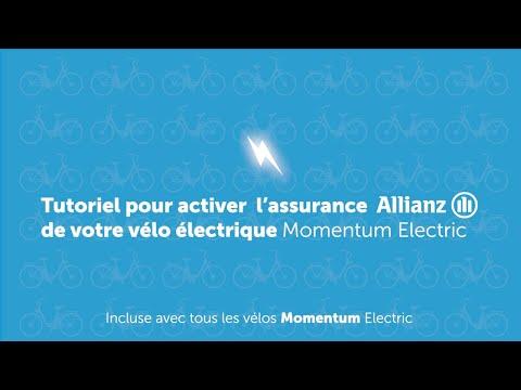 Activation assurance casse et vol vélo électrique Allianz - Momentum Electric