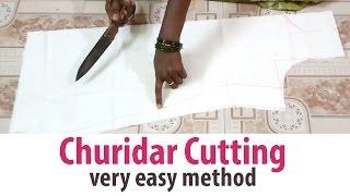 Churidar Cutting sudidhar Chudidar Lining top part-1/2 tailoring classes width=
