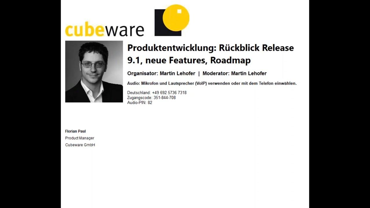 Produktentwicklung Rückblick: Release 9.1 - neue Features; Roadmap
