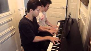 Clocks - Coldplay Piano Cover Four hands