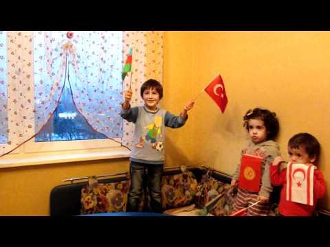 himn Azerbaycana 5 yasli azeri turk 2012 Uzeyir Mehdizade гимн Азербайджана  2012